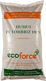 CULTIVERS ECO10F00068 Humus de Lombriz Ecológico 20 kg (40 L). Abono para Plantas indicado para Tomates y Hortalizas. Fert...