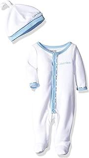 CALVIN KLEIN Baby Boys Gift, 2 Piece Velour Set
