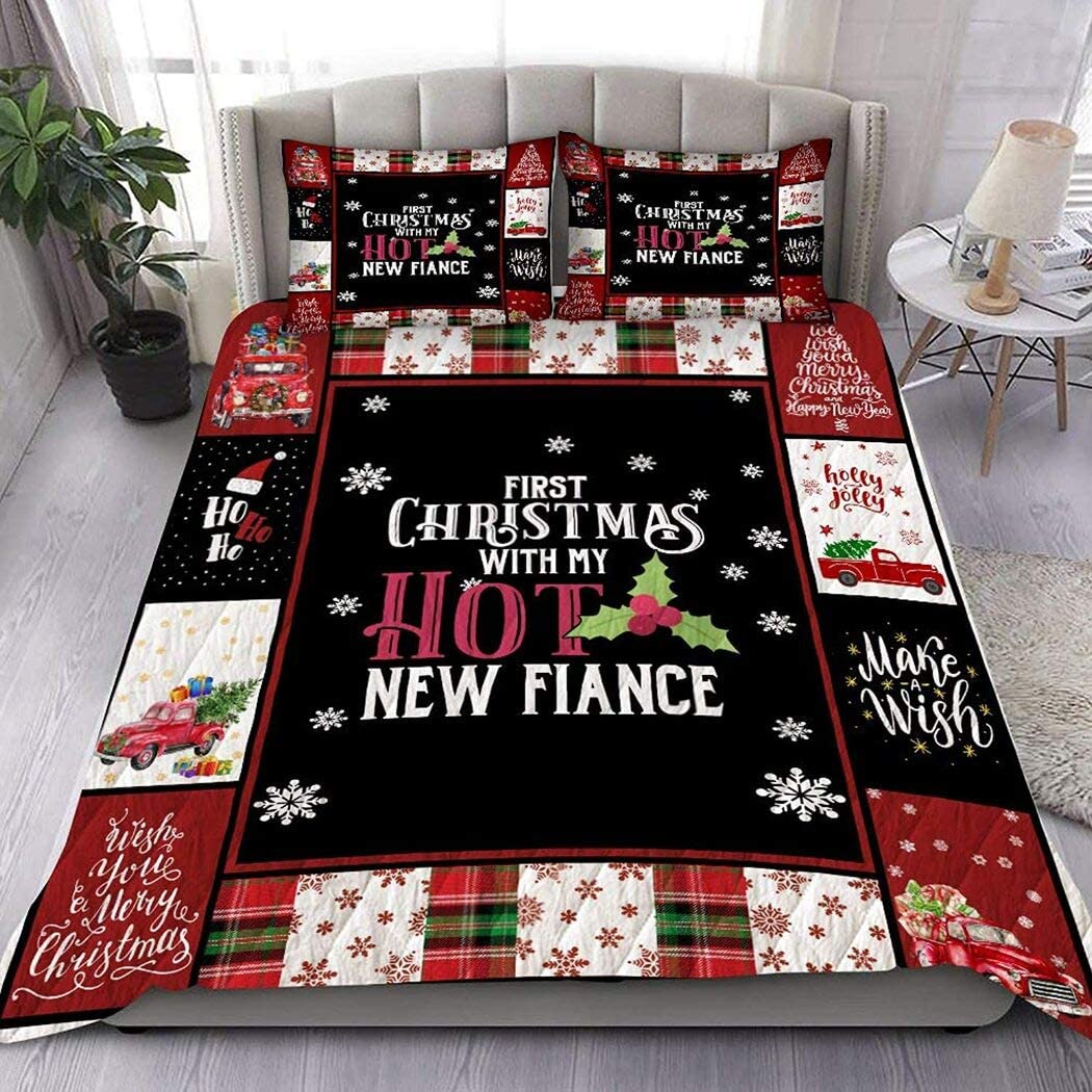 Personalized First Christmas with My Hot Mother gift Quilt Fiance New discount