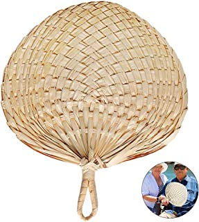 Perfect for Summer Come With Butterfly Embroidery Pendant 12 Natural Raffia Fans Whole leaf Exquisite Handicraft 1pc