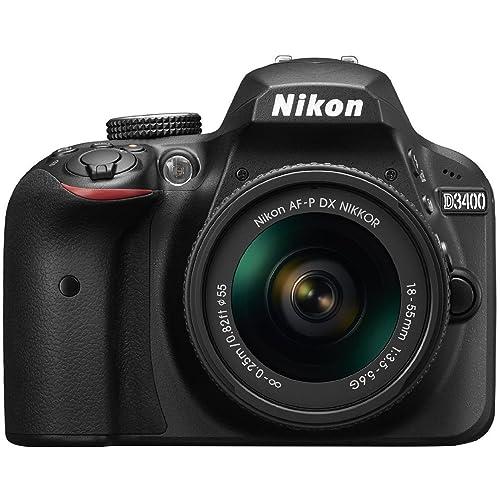 Nikon D3400 24.2 MP Digital SLR Camera (Black) + AF-P DX Nikkor 18-55mm f/3.5-5.6G VR Lens Kit + Memory Card + Camera Bag