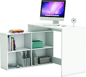 Demeyere 254460Corner scrivania angolare Bianco Perla 111,9X 100,7x 76,7cm