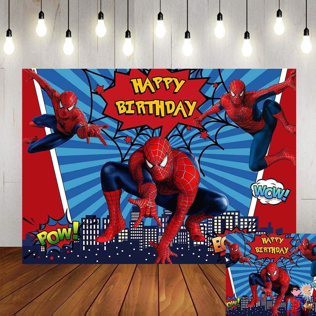 Superhero Cityscape Photography Backdrop Children 2021 model Birthday Happy Max 75% OFF