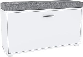 GLmeble - Meuble à chaussures avec siège blanc - Unité d'organisation, facile à monter, gain de place pour entrée et chambre