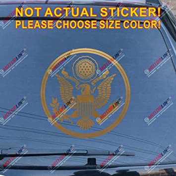 30.5cm Yellow, 12 3S MOTORLINE Great Seal of United States Decal Sticker US Car Vinyl Pick Size Color No bkgrd