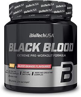BioTech Black Blood NOX+ Aminoácidos Creatina. Sabor Naranja Sanguina - 330 gr