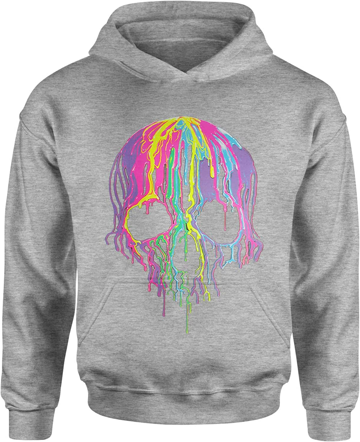 Expression Tees Neon Dripping Skull Youth-Sized Hoodie