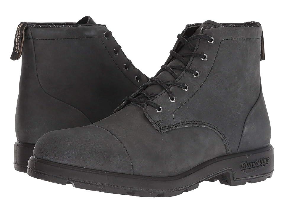 Blundstone BL1619 (Rustic Black w/ Toe Cap) Lace-up Boots