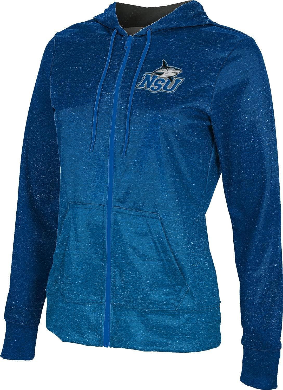 Nova Southeastern University Girls' Zipper Hoodie, School Spirit Sweatshirt (Ombre)