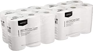 AmazonBasics Ultra Soft Toilet Paper, 300 Sheets per Roll, 24 Rolls (2-ply)