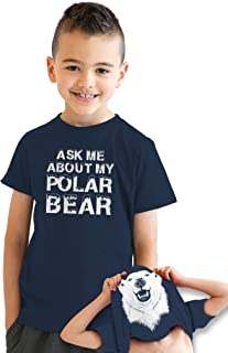 Youth Ask Me About My Polar Bear Flip T Shirt for Kids