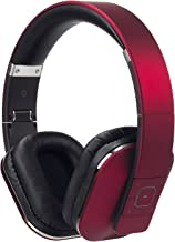 Bluetooth Headphones - August EP650 - Wireless Over Ear Headphones with Multipoint / NFC / 3.5mm Audio In / Headset Microphone - Red