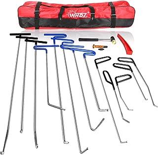 WHDZ Paintless Dent Repair Rods 16pcs Auto Body Dent Repair Hail Damage Removal Tools Paintless Dent Repair Rods Tool for Car Dent Ding Removal