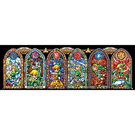 Legend of Zelda Poster Link Stained Glass 91.5x30.5cm