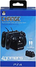 4Gamers Officially Licensed Dual Controller Stand with Twin USB Charging Cables (PS4)