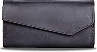Genuine Leather Wallets for Women Designer Purses Vintage Handbag Cowhide Long Purse Money Clip Card Case Organizer with Z...