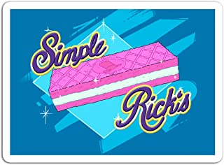 KoutYukshop Sticker Television Show Simple Rick's Simple Wafers Wafer Cookie Tv Shows Series (3
