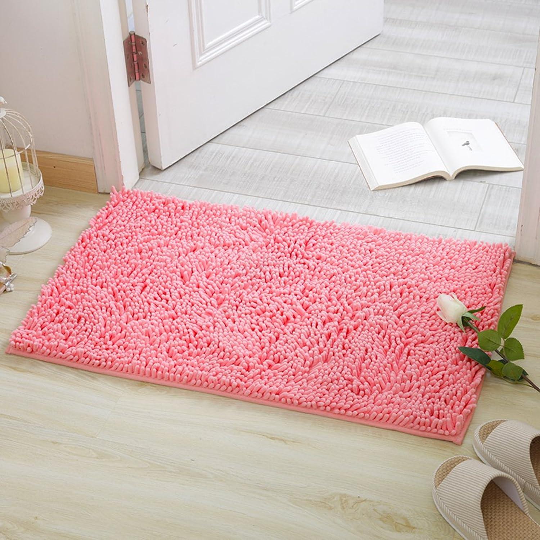 Solid-colord cotton door mat Doormat Door carpet foot mat Household use [bathroom] Bathroom The door Bedroom Living room Toilet water-absorbing anti-slip mat-I 100x150cm(39x59inch)