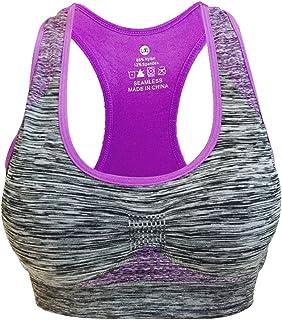 Vermilion Bird Women s Seamless Sports Bra High Impact Pocket Yoga Bras