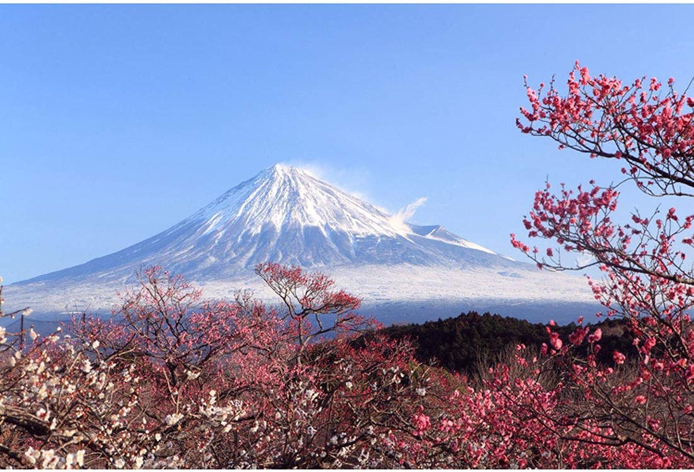 Cherry Blossoms Puzzle en Bois MagnifiqueHommest Unique, Paysage Japonais 500,1000,2000,4000 Pièces pour Adultes Enfants Fans,C,2000PCS