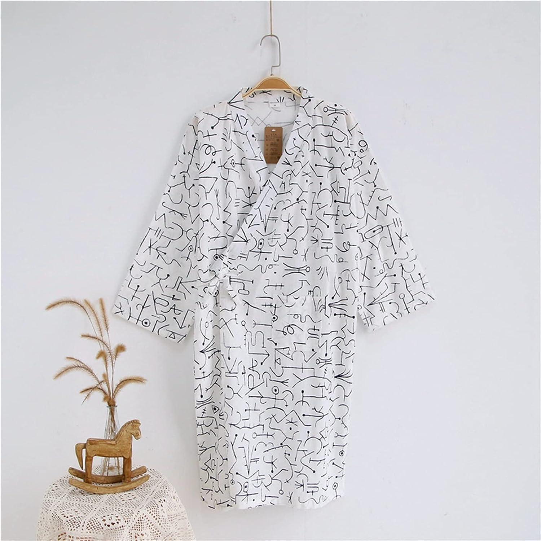 XJYWJ Miami Mall Men's Robe Cotton Gauze Comfortable Home Cloth Loose 2021 model Robes