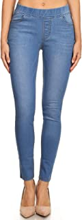 Women's High Waisted Stretchy Pull-On Skinny Denim Jegging & Bermuda Shorts