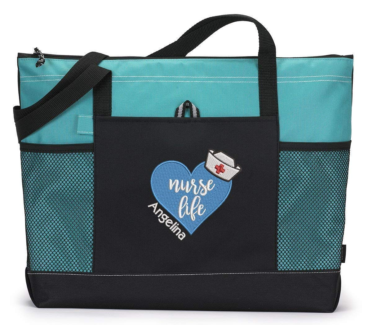 Nurse Life Heart RN LPN Embroidered 55% OFF Bag Tote Max 85% OFF LVN Personalized