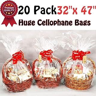 Best jumbo cellophane basket bags Reviews