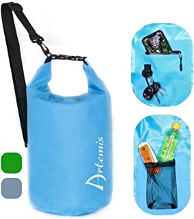 Artemis - 15L Floating Waterproof Dry Bag with Large Internal Pockets and Key Clip for Kayaking, Paddle Boarding, Rafting,...