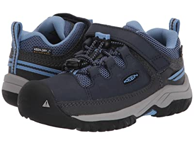 Keen Kids Targhee Low WP (Toddler/Little Kid) (Blue Nights/Della Blue) Girl