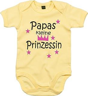 WarmherzIch WarmherzIch Baby Body Papas kleine Prinzessin Strampler liebevoll bedruckt Königin Chef ein und Alles Queen