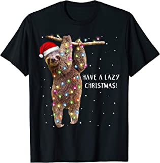 Merry Slothmas Christmas Design For Lazy Sloth Lovers Xmas T-Shirt