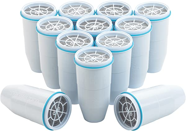 ZeroWater Replacement Filters 12 Pack BPA Free Replacement Water Filters For ZeroWater Pitchers And Dispensers NSF Certified To Reduce Lead And Other Heavy Metals