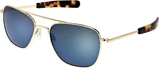 Randolph Aviator Sunglasses 23K Gold E.P. / Bayonet/Skytec-P Cobalt 55mm