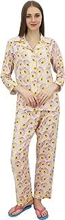Bimba Women's Printed Pajama Pant Shirt Set Full Sleeve Nightwear