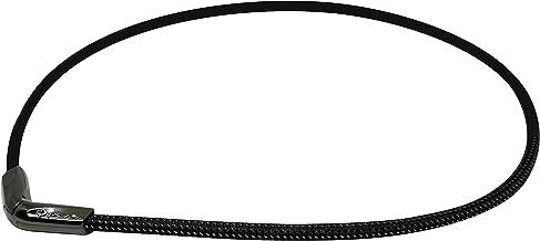 """PHITEN X50 Titanium V-Edge Necklace, Metallic Black, 20"""""""