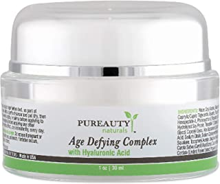 Hyaluronic Acid Retinol Anti Aging Cream and Moisturizer To Help Reduce The Appearance of Wrinkles, Fine Lines, Dark Circles - Neck Firming, Tighten Your Face and Skin - Pureauty Naturals - 30ml
