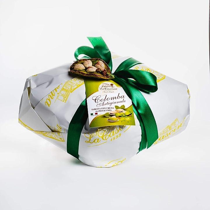 Colomba pasquale artigianale farcita con crema di pistacchio 1kg - made in italy - la cascina B085VTXFVK