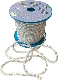 Polyesterseil auf Rolle 50 m x 8 mm - Seil weiß Allzweckseil, Strick, Leine, Flechtleine – Hochwertiges Seil aus 100% Polyester - Bruchlast 1100 kg