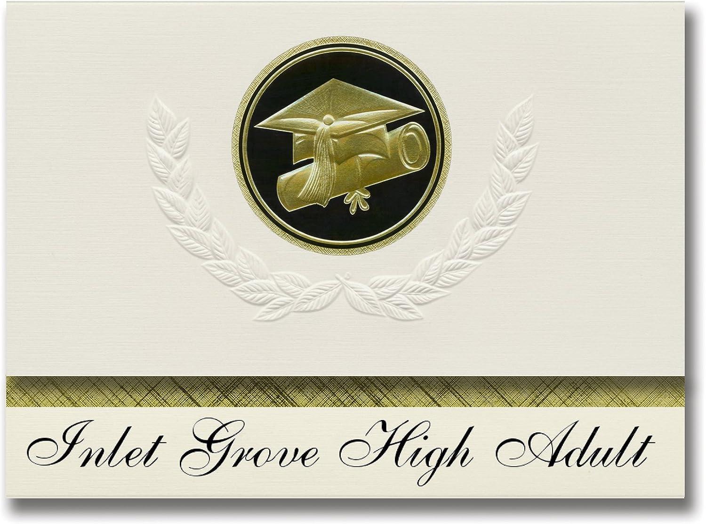 Signature-Announcements Inlet Grove High Adult (Riviera Beach, FL) Abschlussankündigungen, Präsidential-Stil, Elite-Paket mit 25 Kappen und Diplom-Siegel. Schwarz & Gold. B079PNHG6K      Lassen Sie unsere Produkte in die Welt gehen