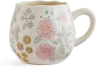 Dorotea Hand Painted Coffee/Tea Mug, 16-Ounce, Set of 4 , Assorted - 5215287