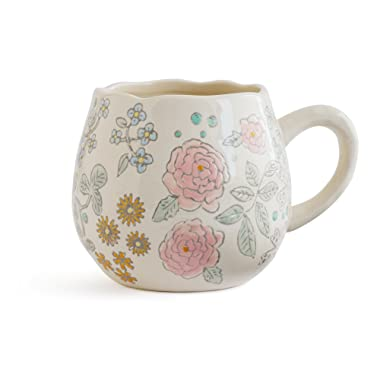 Dorotea Hand Painted Coffee/Tea Mug, 16-Ounce, Set of 4 , Assorted - 5215287