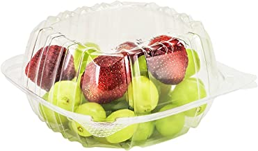 Dart Container 50 Piece, Clear Hinged Plastic Food Take Out to-Go/Clamshell Container, 6