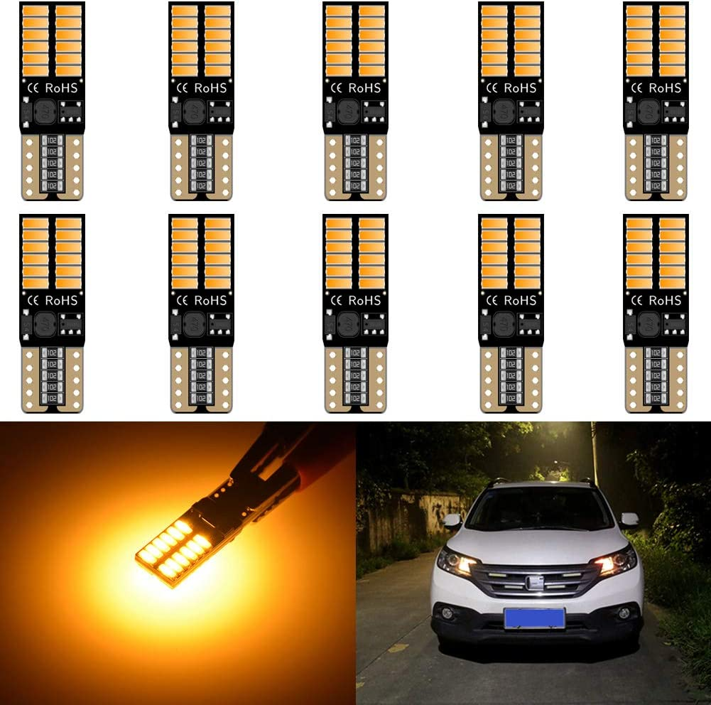 KaTur 194 famous LED Light Inventory cleanup selling sale Bulb 800LM CANBUS W5W 2825 168 Free Error T1