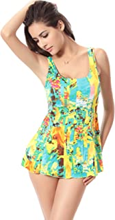 38205d51ab chouyatou Women's Sexy Leopard Printed One-Piece Backless Swim Dress