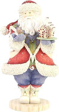 Enesco Heart Jewel Home for Christmas Santa Figurine, 8.78 Inch, Multicolor