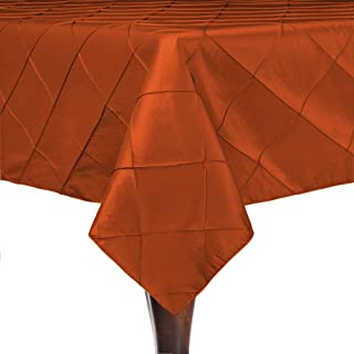 burnt orange pintuck tablecloth