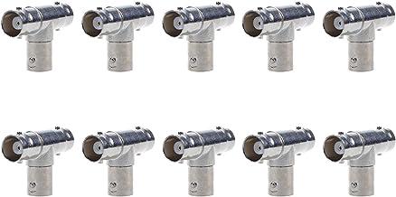 Lemoy 10 Pcs Triple Female BNC F T RF Coaxial Adapter Connector Splitter