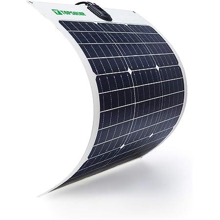 TP-solar Flexible Solar Panel 50W 24V/12V Monocrystalline Bendable - 50 Watt 12Volt Semi-Flexible Mono Solar Panels Charger Off-Grid for RV Boat Cabin Van Car Uneven Surfaces