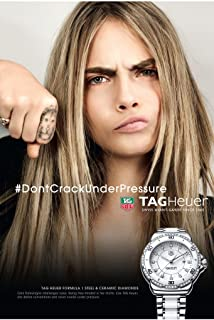 PRINT AD With Cara Delevingne For tag Heuer Formula 1 Stainless Watch